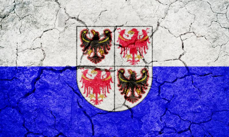 Trentino-söder Tyrol, autonom region av Italien, flagga royaltyfri illustrationer