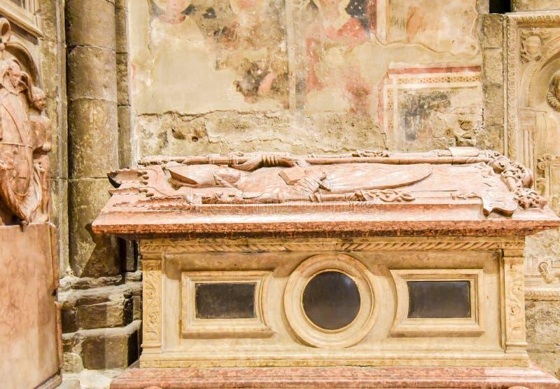 TRENTO Włochy, Luty, - 21, 2018: uznanie San Vigilio zamęczał w katedrze San Vigilio lub katedrze Trento, Trentino obraz stock