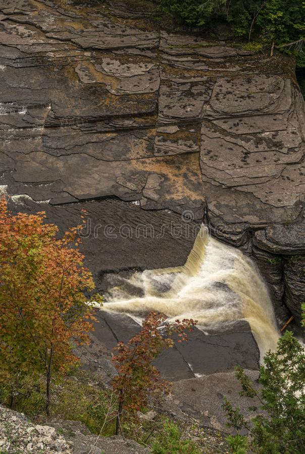 Trenton Falls Located in Barneveld, New York Which Opens Only Two Day in May and Twio Day In September a Year stock photography