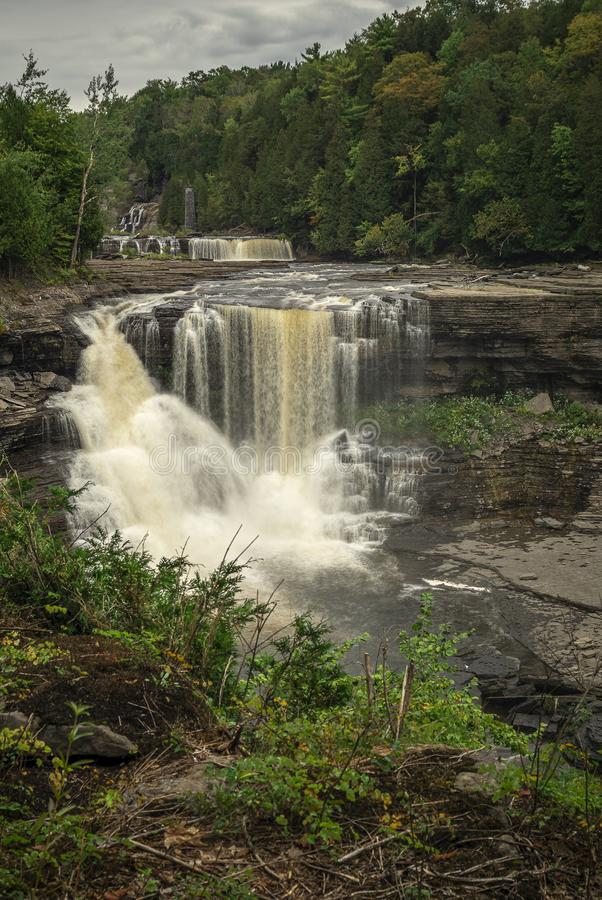 Trenton Falls Located in Barneveld, New York Which Opens Only Two Day in May and Twio Day In September a Year royalty free stock images