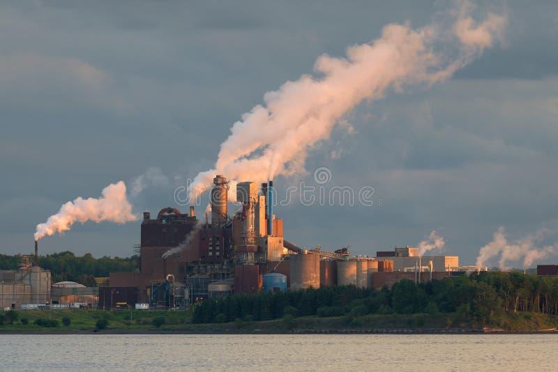 Trenton Generating Station in Nova Scotia royalty free stock photography