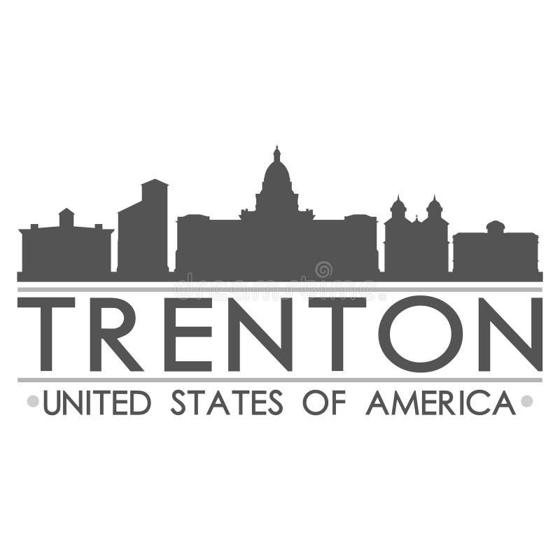 Trenton linii horyzontu symbolu projekta miasta wektoru sztuka ilustracja wektor
