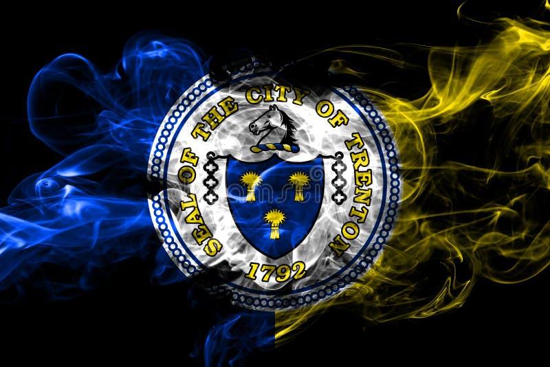 Trenton, New Jersey colorful smoking flag 2018. Trenton, New Jersey colorful smoking flag 2018 vector illustration