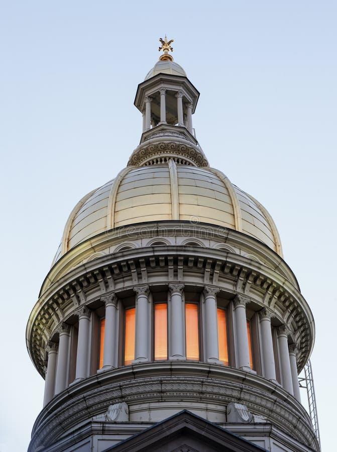 Trenton, New-Jersey - Zustands-Kapitol-Gebäude lizenzfreie stockfotos