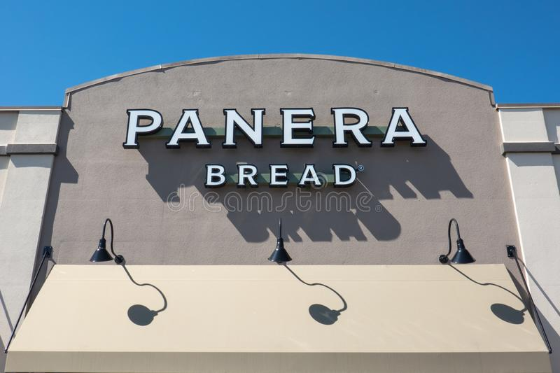 Panera Bread Resturant Sign Editorial Stock Photo - Image of
