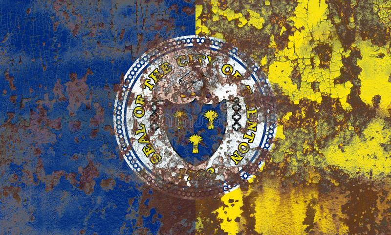Trenton-Stadtrauchflagge, Staat New Jersey, Vereinigte Staaten von Amer lizenzfreie stockbilder