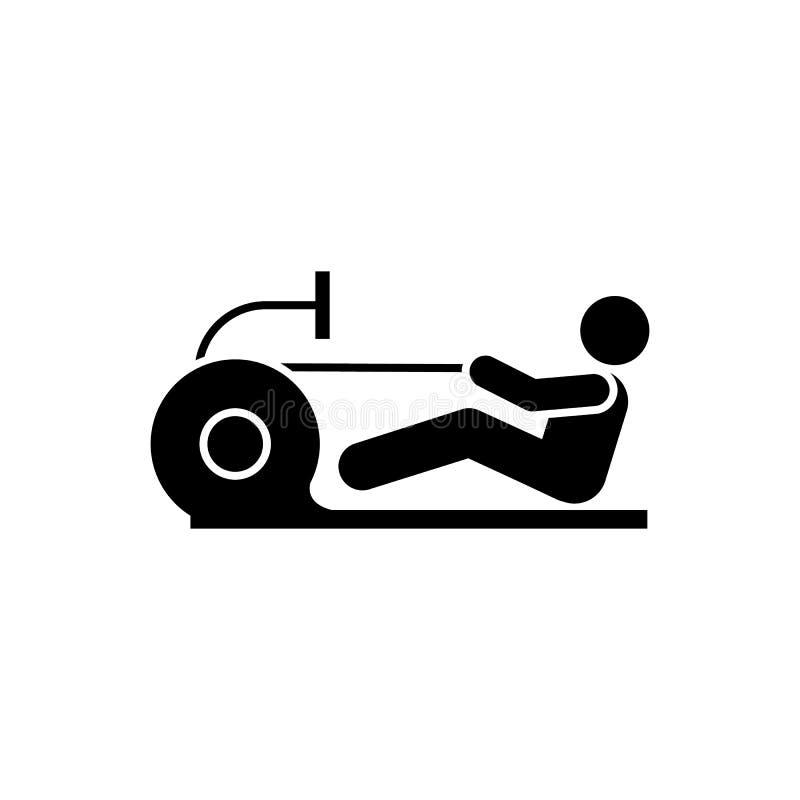 Trenujący, dieta, gym, ciężar, bawi się ikonę Element gym piktogram Premii ilo?ci graficznego projekta ikona podpisz symboli royalty ilustracja