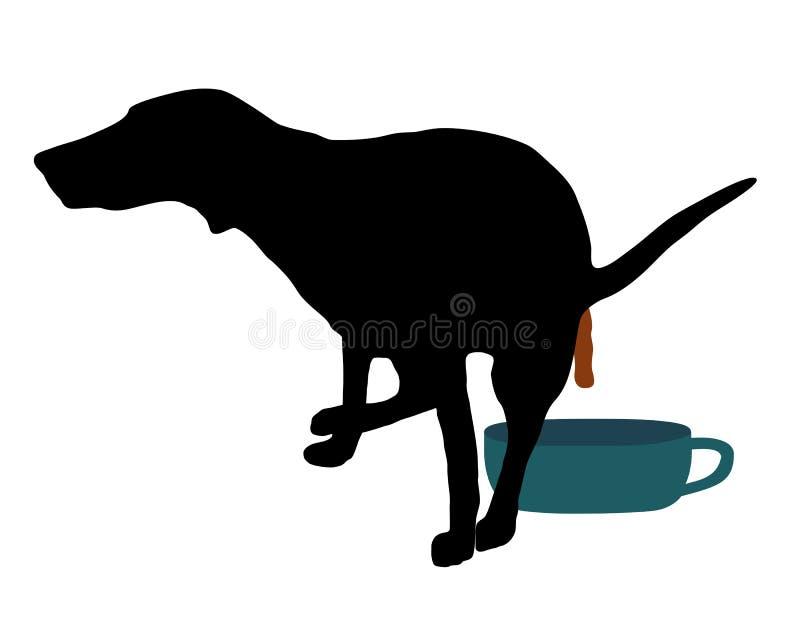 trenuję do toalety psów - royalty ilustracja