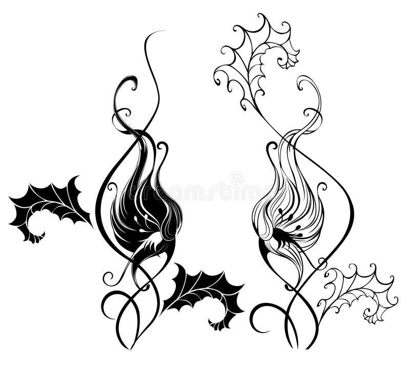 Trepadeira da silhueta ilustração royalty free