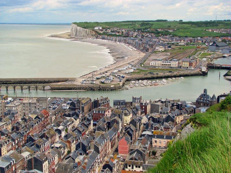 treport Франции le Нормандии стоковая фотография rf