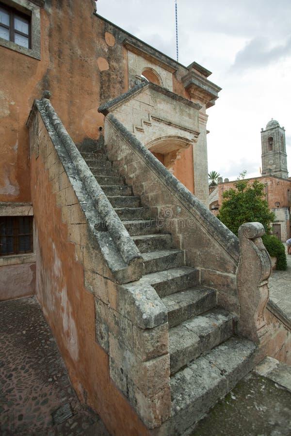 Treppe in der Kirche lizenzfreie stockfotos