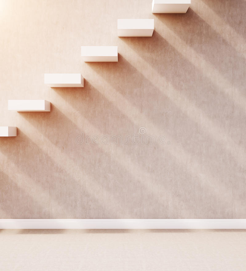 Treppe in der Wand stock abbildung