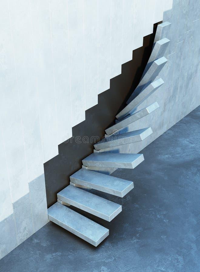 Treppe, die aufwärts führt stockfotos