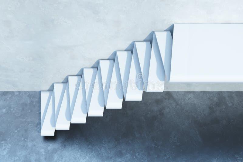 Treppe, die aufwärts führt stock abbildung