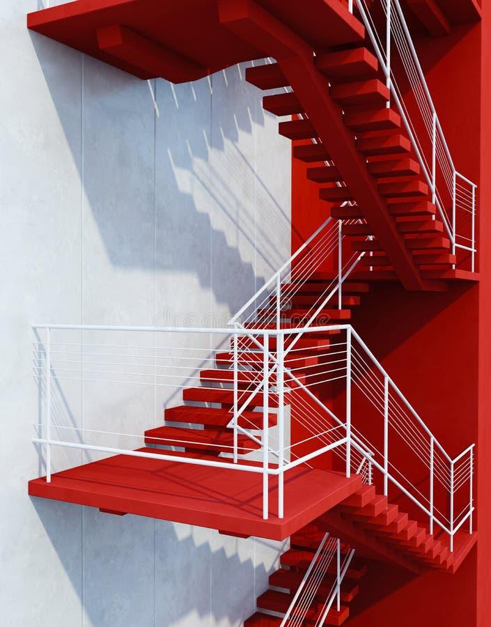 Treppe, die aufw?rts f?hrt stock abbildung