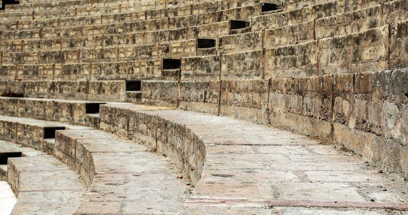 Treppe eines alten Pompeji-Amphitheaters Italien stockfoto