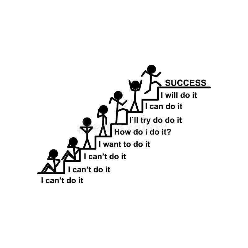 Treppe, Erfolg, Zielikone Kann für Netz, Logo, mobiler App, UI, UX verwendet werden lizenzfreie abbildung