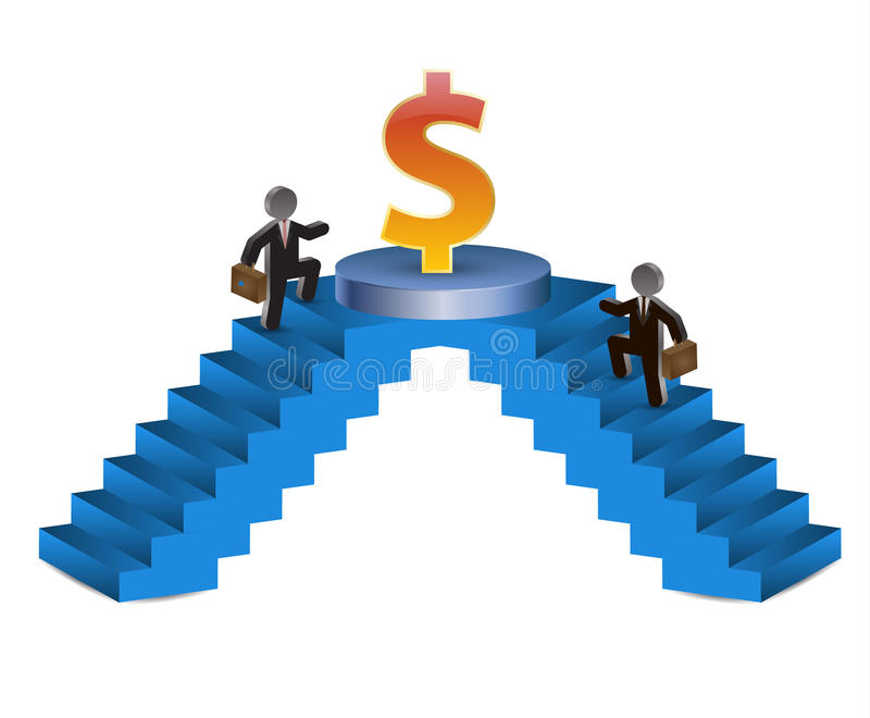 Treppe geht zum Erfolg stock abbildung