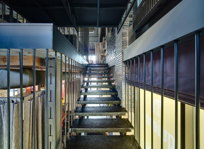 Treppe im Restaurant stockfotografie