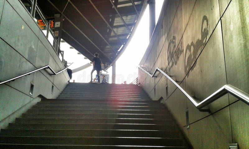 Treppe und das Licht stockfotos
