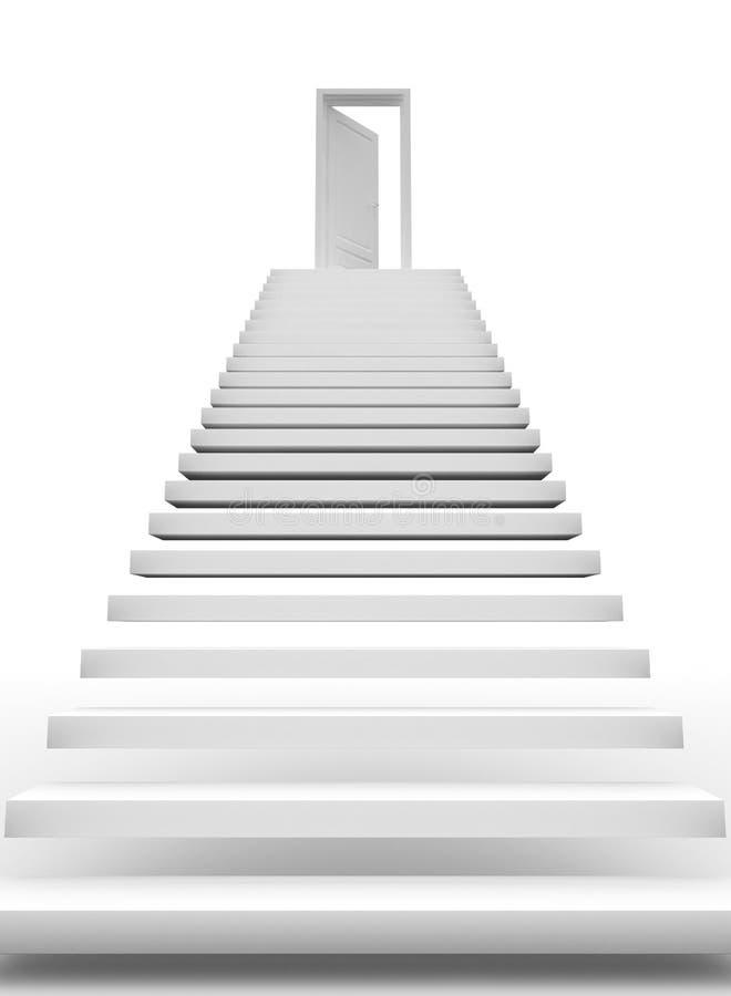Treppe zum Erfolg lizenzfreie abbildung