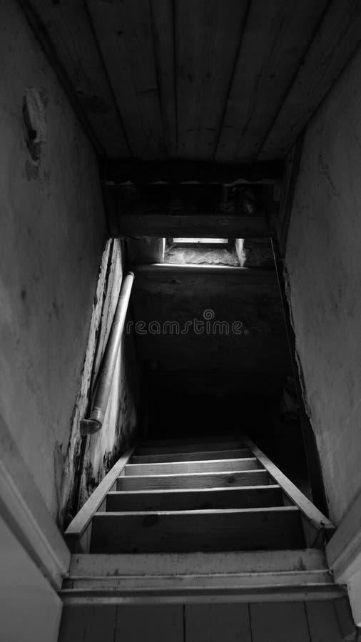 Treppe zur Vergangenheit stockfotografie