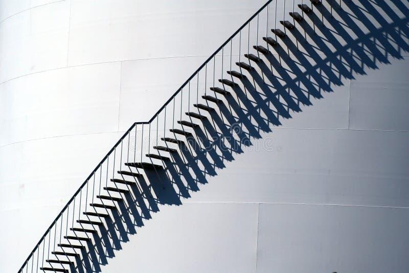 Treppen am Öltanker lizenzfreies stockfoto