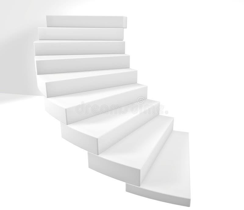 Treppen 3D lizenzfreie abbildung