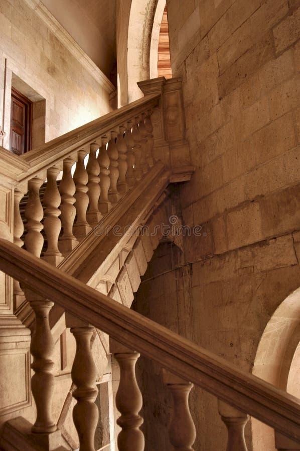 Treppen in Alhambra lizenzfreie stockbilder