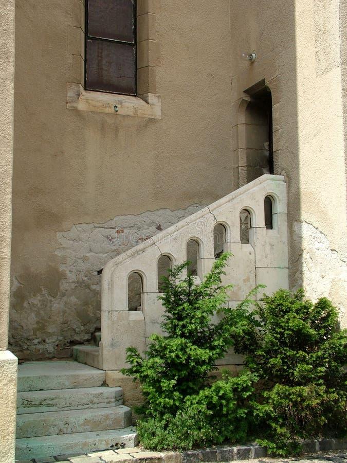 Treppen auf einem alten Haus lizenzfreie stockbilder