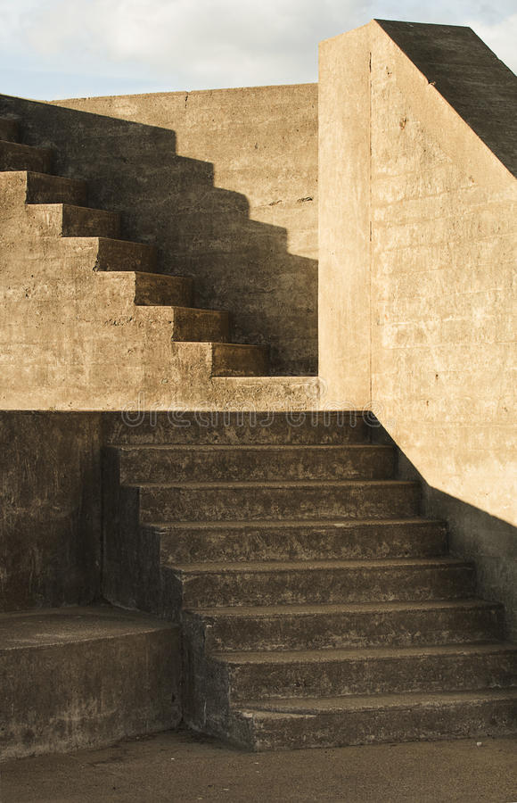 Treppen-Bunker in San Francisco lizenzfreies stockfoto