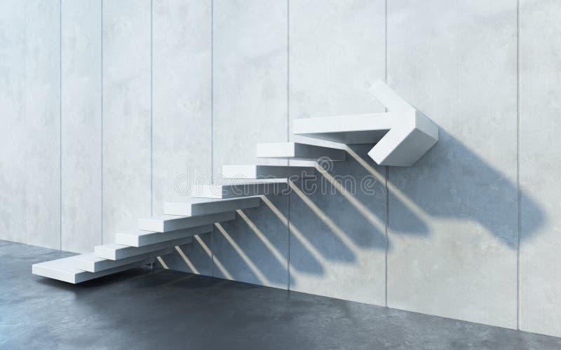 Treppen nach oben, 3D-Rendering stockbild