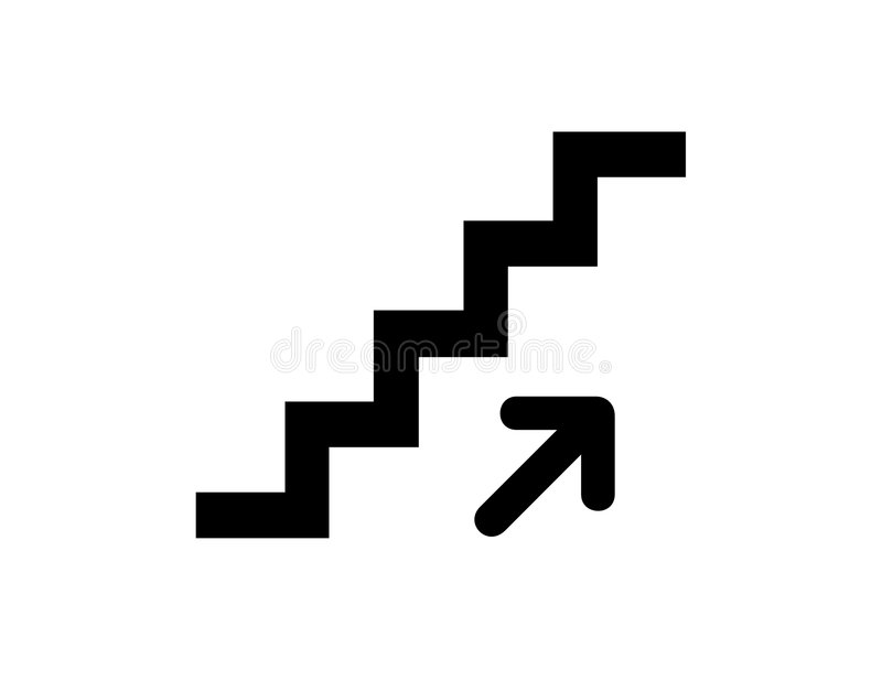 Treppen oben vektor abbildung