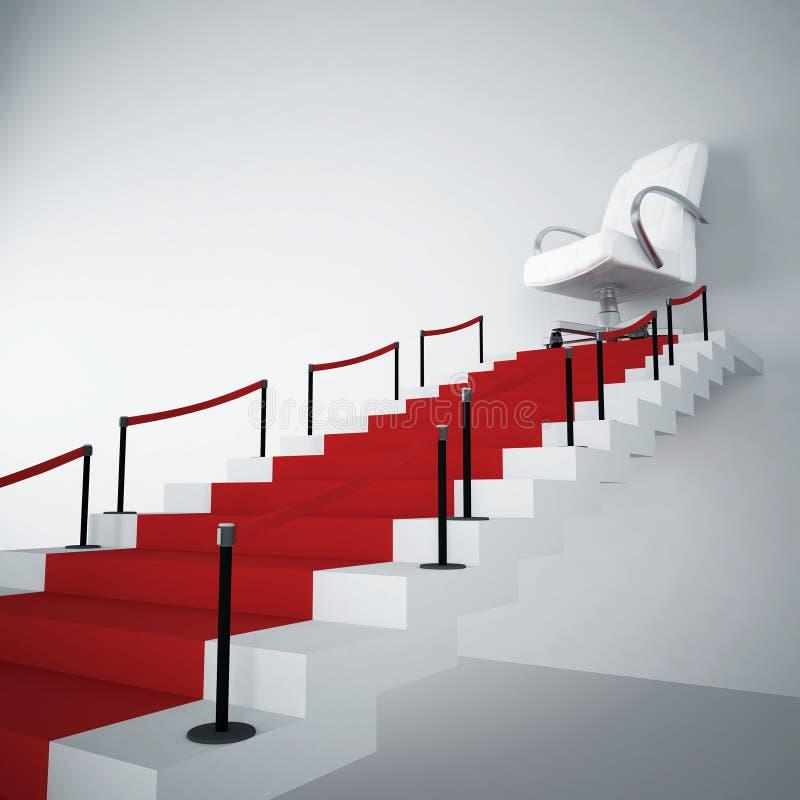 Treppen und Lehnsessel stock abbildung
