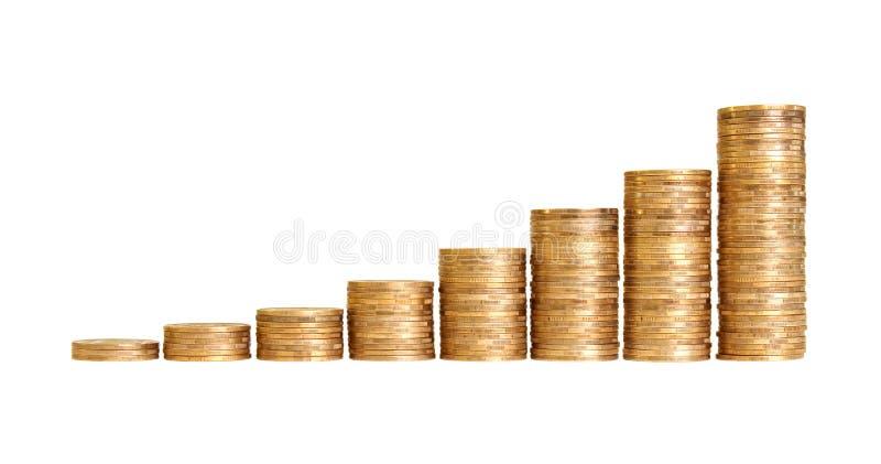 Treppen zum Reichtum stockbilder