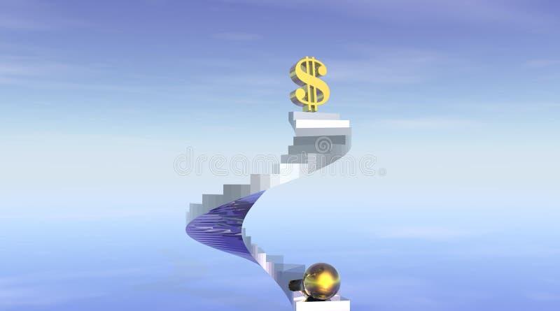 Treppen zum Reichtum und zum Vermögen stock abbildung