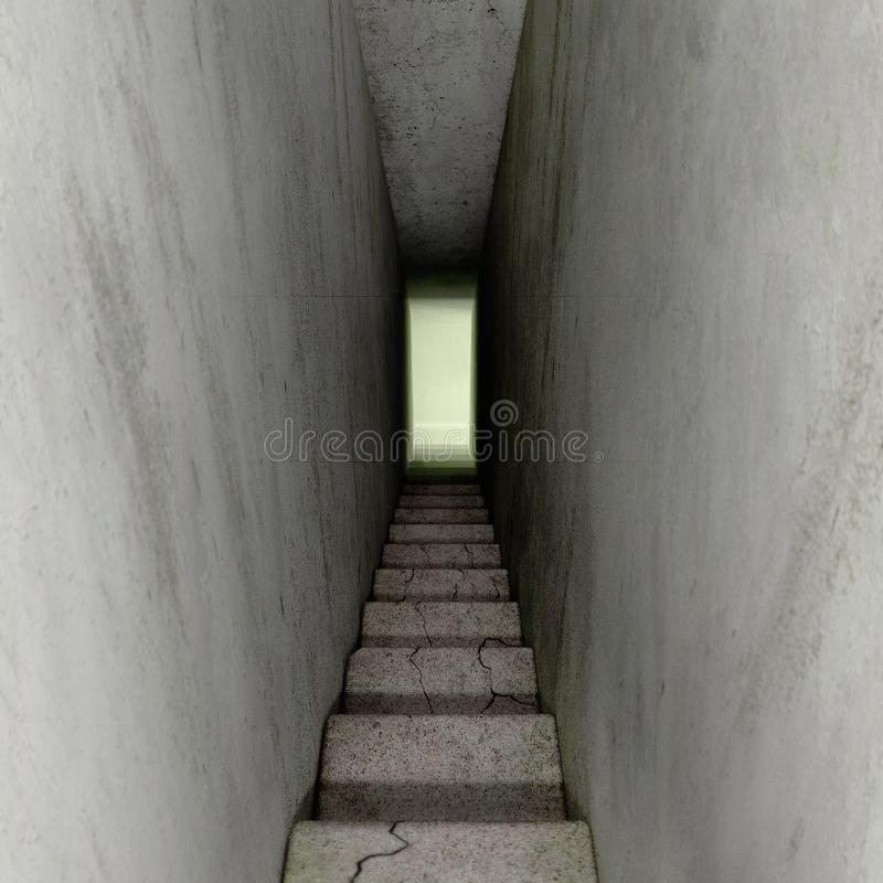 Treppenhäuser unten stock abbildung