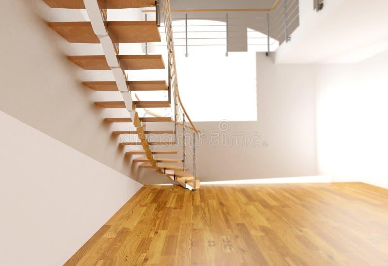 Treppenhaus stock abbildung