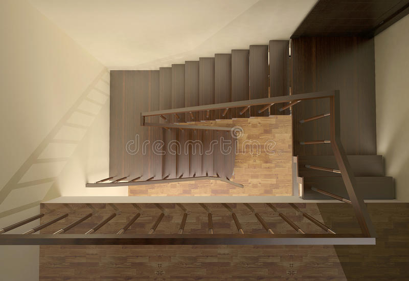 Treppenhaus lizenzfreie abbildung