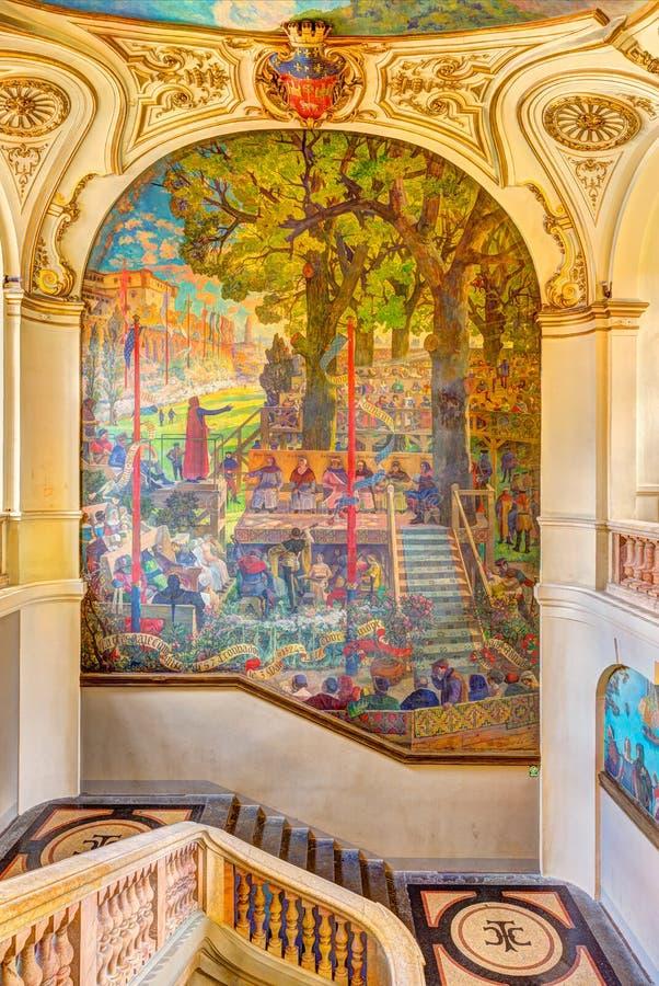 Treppenhaus Capitole de Toulouse s lizenzfreie stockbilder