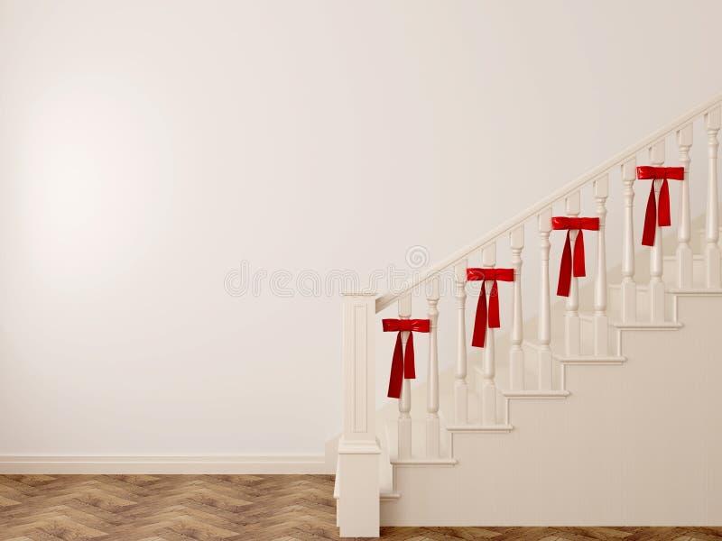 Treppenhaus mit Bögen stock abbildung