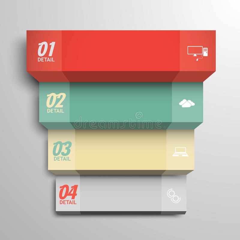 Treppenhaus zu den Daten, moderne infographics Schablone stock abbildung