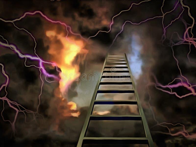 Treppenhaus zum Himmel stock abbildung