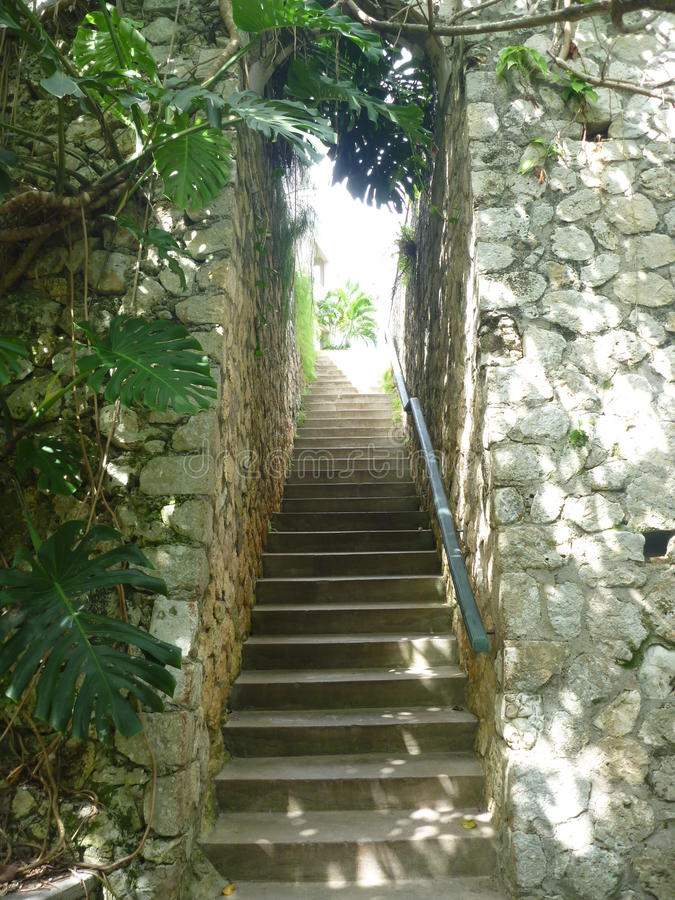 Treppenhaus zum Paradies stockfotografie