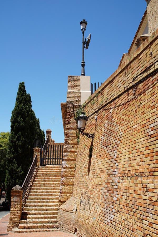 Treppenhaus zur Gemeindekirche von Iglesia De San Pedro lizenzfreie stockfotos