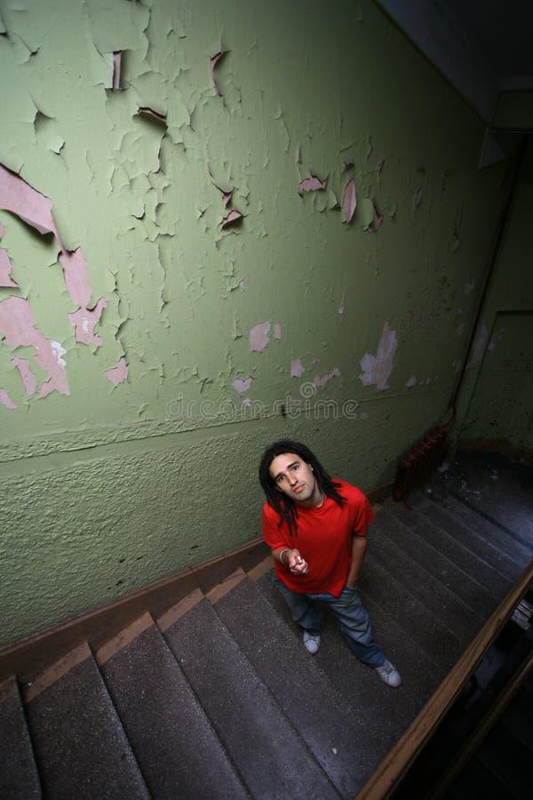 Treppenhausportrait lizenzfreie stockbilder