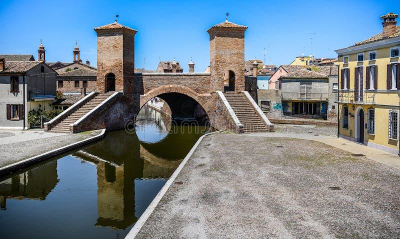 Trepponti σε Comacchio, Αιμιλία-Ρωμανία, Ιταλία στοκ εικόνα με δικαίωμα ελεύθερης χρήσης