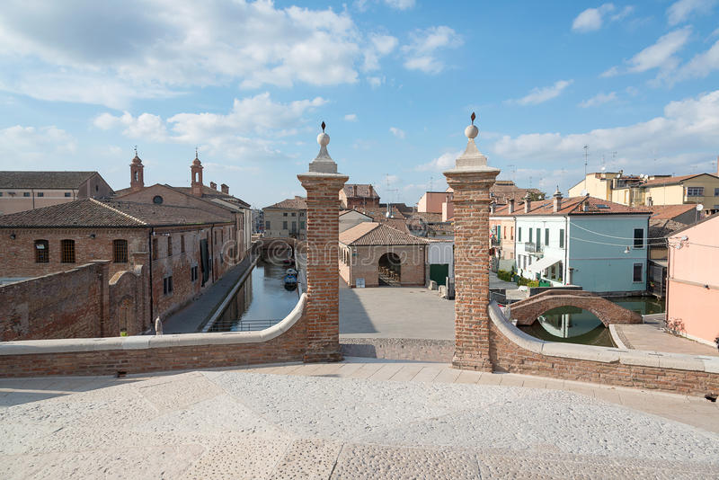 Trepponti- Comacchio, Italien royaltyfri foto