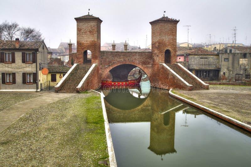 Trepponti, Comacchio, Włochy obrazy royalty free