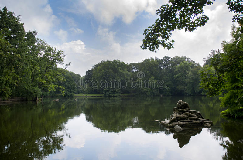 Treptower park lake, Berlin. royalty free stock photos